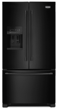 "MFI2570FEB Maytag 36"" French Door Refrigerator with BrightSeries LED Lighting and PowerCold Feature - Black"