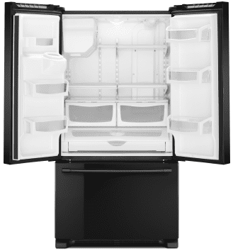 """MFI2570FEB Maytag 36"""" French Door Refrigerator with BrightSeries LED Lighting and PowerCold Feature - Black"""