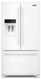 "MFI2570FEW Maytag 36"" French Door Refrigerator with BrightSeries LED Lighting and PowerCold Feature - White"