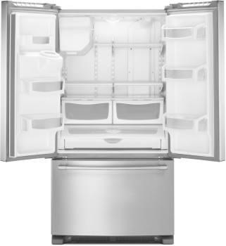 "MFI2570FEZ Maytag 36"" French Door Refrigerator with BrightSeries LED Lighting and PowerCold Feature - Fingerprint Resistant Stainless Steel"