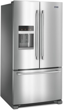 """MFI2570FEZ Maytag 36"""" French Door Refrigerator with BrightSeries LED Lighting and PowerCold Feature - Fingerprint Resistant Stainless Steel"""