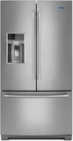 """MFT2776FEZ Maytag 36"""" 26.8 cu. ft. Capacity French Door Refrigerator with 3 Glass Shelves and Full-Width Storage Drawer - Fingerprint Resistant Stainless Steel"""