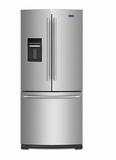 """MFW2055FRZ 30"""" Maytag 20 cu. ft. French Door Refrigerator with Exterior Water Dispenser and Bright Series LED Lighting - Fingerprint Resistant Stainless Steel"""