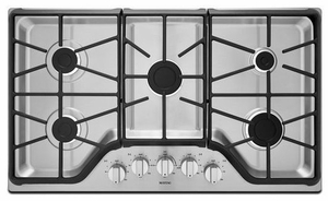MGC7536DS Maytag 36-inch 5-burner Gas Cooktop with Power Burner - Stainless Steel