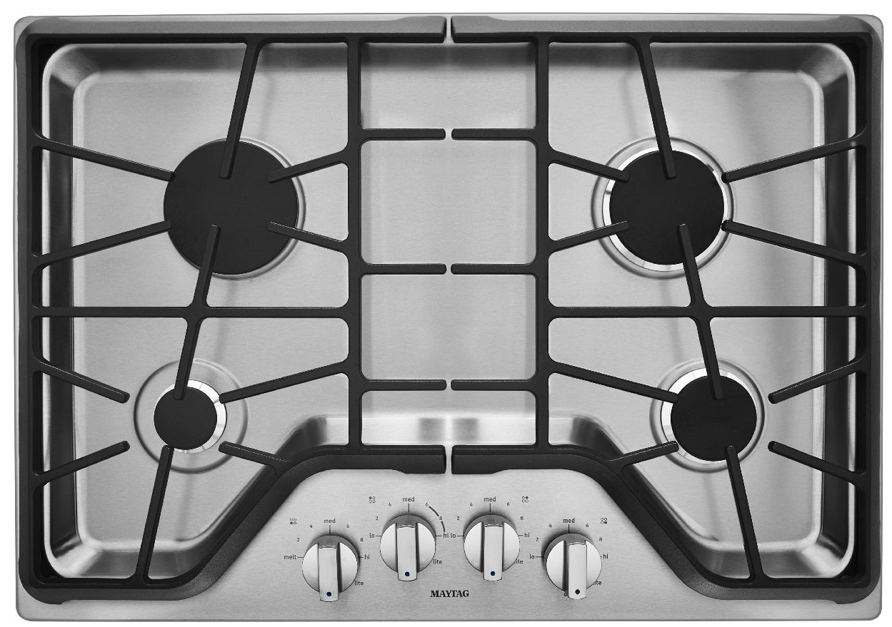 MGC9530DS Maytag 30 Inch 4 Burner Gas Cooktop With DuraGuard Protective  Finish   Stainless