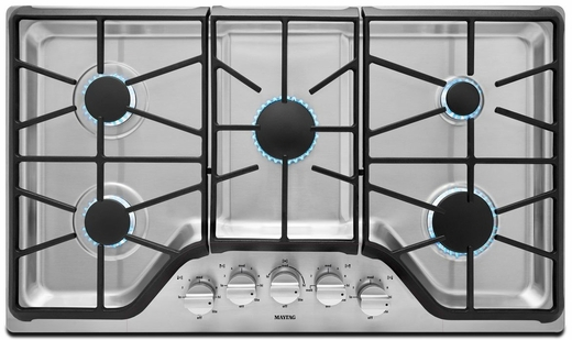 Marvelous MGC9536DS Maytag 36 Inch 5 Burner Gas Cooktop With DuraGuard Protective  Finish   Stainless Steel