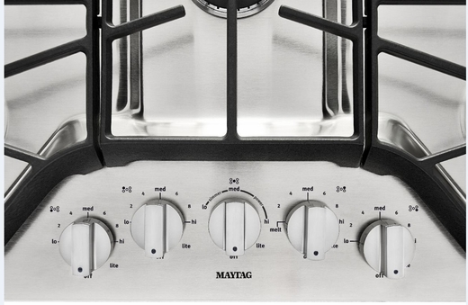 MGC9536DS Maytag 36-inch 5-burner Gas Cooktop with DuraGuard Protective Finish - Stainless Steel