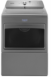 """MGDB765FC Maytag 27"""" 7.4 cu. ft. Front Load Large Capacity Gas Dryer with Sanitize Cycle and Intellidry Sensor - Metallic Slate"""