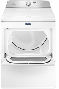 """MGDB765FW Maytag 27"""" 7.4 cu. ft. Front Load Large Capacity Gas Dryer with Sanitize Cycle and Intellidry Sensor - Metallic Slate"""