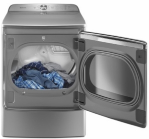 "MGDB955FC Maytag 29"" 9.2 Cu. Ft. Front Load Dryer with the PowerDry System and Extra Moisture Sensor  - Chrome Shadow"