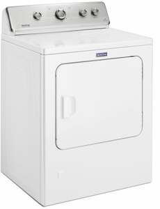 "MGDC465HW Maytag 29"" 7.0 cu. ft. Front Load Large Capacity Gas Dryer with Wrinkle Control Option and Intellidry Sensor - White"