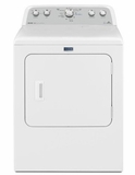 """MGDX6STBW 29"""" Maytag Bravos Series 7.0 cu. ft. Capacity Front Load Electric Dryer with Sanitize Cycle and Steam - White"""