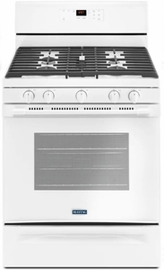 """MGR6600FW Maytag 30"""" 5 cu. ft. Capacity Freestanding Gas Range with Precision Cooking and Power Burner - White"""