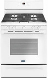 "MGR6600FW Maytag 30"" 5 cu. ft. Capacity Freestanding Gas Range with Precision Cooking and Power Burner - White"