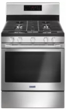 "MGR6600FZ Maytag 30"" 5 cu. ft. Capacity Freestanding Gas Range with Precision Cooking and Power Burner - Finger Print Resistant Stainless Steel"