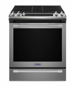 """MGS8800FZ 30"""" Maytag 5.8 cu. ft. Finger Print Resistant Slide-In Gas Range with True Convection and Fit System - Stainless Steel"""