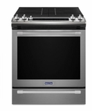 "MGS8800FZ 30"" Maytag 5.8 cu. ft. Finger Print Resistant Slide-In Gas Range with True Convection and Fit System - Stainless Steel"