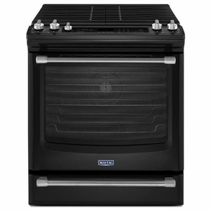 MGS8880DE Maytag 5.8 Cu. Ft. Front Control Gas Range with the FIT System - Black