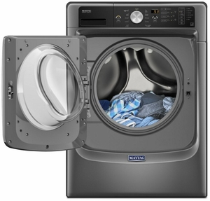 MHW5500FC Maytag 4.5 Cu. Ft. Front Load Washer with Fresh Hold & PowerWash - Metallic Slate