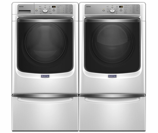 "MHW8200FW Maytag 27"" 4.6 cu. ft. Front Load Washer with the PowerWash System and Fresh Hold Option - White"