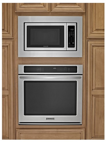 Mk2160as Kitchenaid 30 Trim Kit For 1 6 Cu Ft Countertop Microwaves Stainless Steel