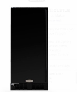 "ML15CPS1LB 15"" Marvel Indoor Clear Ice Maker with 35 Lbs. Ice Storage,Touch Screen Controls and Factory Installed Drain Pump - Left Hinge - Black"