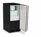 "ML15CRP1LP 15"" Marvel Indoor Undercounter Crescent Cube Ice Maker with 15 Lbs. Ice Storage and Removable Ice Bucket - Left Hinge - Custom Panel"