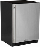 """ML24FAS1LS Marvel 24"""" Left Hinge Solid Door Undercounter All Freezer with Dynamic Cooling Technology and Close Door Assist System - Stainless Steel"""