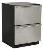 "ML24RDS2NB Marvel 24"" Double Drawer Refrigerator with Dynamic Cooling Technology - Black"