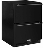"ML24RDS3NB Marvel 24"" Undercounter Refrigerated Drawers with Dynamic Cooling Technology and Close Door Assist System - Black"