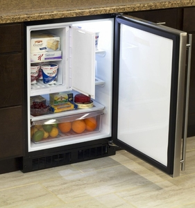 """ML24RFP4LP Marvel 24"""" Left Hinge Undercounter Refrigerator Freezer with Dynamic Cooling Technology and MaxStore Drawer - Custom Panel"""