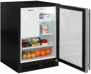 "ML24RIP5RP Marvel 24"" Right Hinge Undercounter Refrigerator Freezer with Ice Maker and MaxStore Drawer - Custom Panel"