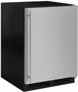 "ML24RIS4LS Marvel 24"" Left Hinge Undercounter Refrigerator Freezer with Ice Maker and MaxStore Drawer - Stainless Steel"