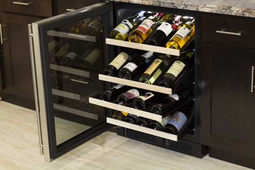 "ML24WSG1RS Marvel 24"" High Efficiency Gallery Single Zone Wine Cellar - Right Hinge - Stainless Frame"