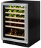 "ML24WSP4LP Marvel 24"" Left Hinge High Efficiency Glass Frame Door Single Zone Wine Refrigerator with Vibration Neutralization System and Thermal Efficient Cabinet - Solid Panel Ready"
