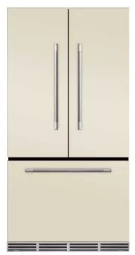 "MMFCDR23IVY AGA 36"" Mercury French Door Counter Depth Refrigerator with Humidity-Controlled Crisper Drawers and Theatre-Style Interior Lighting - Ivory"