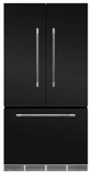 "MMFCDR23MBL AGA 36"" Mercury French Door Counter Depth Refrigerator with Humidity-Controlled Crisper Drawers and Theatre-Style Interior Lighting - Matte Black"