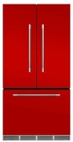 "MMFCDR23SCR Aga 36"" Mercury French Door Counter Depth Refrigerator with Humidity-Controlled Crisper Drawers and Theatre-Style Interior Lighting - Scarlet"