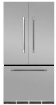 "MMFCDR23SS Aga 36"" Mercury French Door Counter Depth Refrigerator with Humidity-Controlled Crisper Drawers and Theatre-Style Interior Lighting - Stainless Steel"