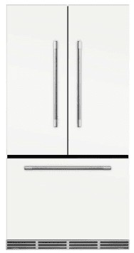 "MMFCDR23WHT Aga 36"" Mercury French Door Counter Depth Refrigerator with Humidity-Controlled Crisper Drawers and Theatre-Style Interior Lighting - White"