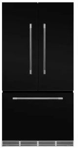 "MMFCDR23BLK Aga 36"" Mercury French Door Counter Depth Refrigerator with Humidity-Controlled Crisper Drawers and Theatre-Style Interior Lighting - Gloss Black"