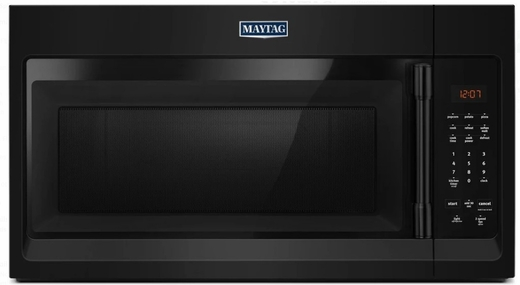 "MMV1174FB Maytag 30"" 1.7 cu. ft. Capacity Over the Range Microwave with 1000 Cooking Watts and 300 CFM - Black"