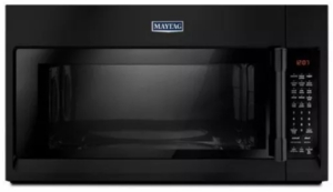 "MMV6190FB Maytag 30"" 1.9 cu. ft. Capacity Over the Range Microwave Oven with 1000 Cooking Watts and Interior Cooking Rack - Black"