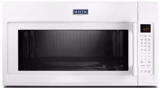 "MMV6190FW Maytag 30"" 1.9 cu. ft. Capacity Over the Range Microwave Oven with 1000 Cooking Watts and Interior Cooking Rack - White"
