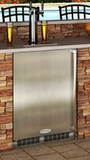 "MO24BTS2LS Marvel 24"" Outdoor Twin Tap Built-in Beer Dispenser (Left Hinge) - Stainless Steel"
