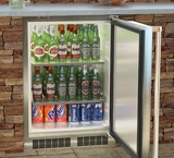 "MO24RAS1RS Marvel 24"" Outdoor Refrigerator - Right Hinge - Stainless Steel"