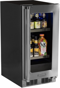 "MP15BCF3LP Marvel Professional 15"" Beverage Center with Lock - Left Hinge - Panel Overlay/Frame Ready"