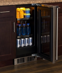 """MP15BCG4RS Marvel 15"""" Professional Right Hinge Glass Frame Door Beverage Center with Lock and Dynamic Cooling Technology - Stainless Steel"""