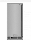 """MP15CLS2LS 15"""" Marvel Indoor Clear Ice Maker with 35 Lbs. Ice Storage and Touch Screen Controls - Left Hinge - Stainless Steel"""