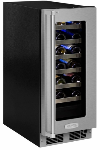 "MP15WSF4RP Marvel 15"" Professional Right Hinge High Efficiency Single Zone Wine Refrigerator with Vibration Neutralization System and Dynamic Cooling Technology - Panel Ready Glass Frame Door"